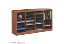 E-Z Stor Wood Literature Organizer, 24 Compartments