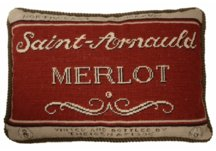 Merlot Needlepoint Pillow
