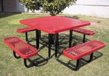 picnic table, square picnic table