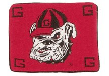 Georgia Bulldogs Throw Pillow