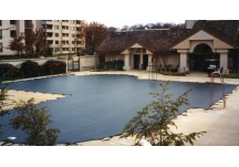 custom pool cover, mesh pool cover