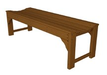 Traditional Garden 60 Backless Bench in Teak