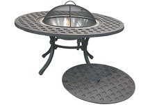 Bailey Cast Aluminum Firepit Table