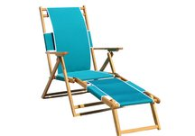 Wood Beach Chair with Leg Rest, Beach Chair with Leg Rest