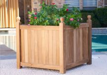 Large Teak Planter Box