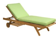 Teak Chaise Lounger, Chaise Lounger, Sunbrella Cushion, Teak