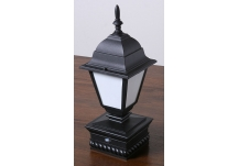 Lighted Coach Lamp Post Cap
