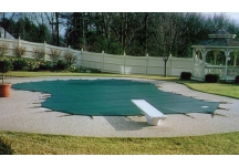 mesh pool cover, defender mesh pool cover, safety pool cover, mesh safety pool cover, winter pool