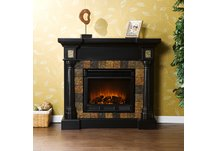 Carrington Convertible Black Electric Fireplace