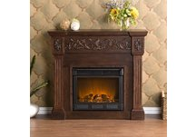 Calvert Carved Espresso Electric Fireplace