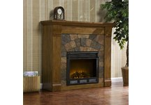 Elkmont Salem Antique Oak Electric Fireplace