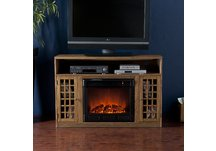 Fairfax Media Weathered Oak Electric Fireplace