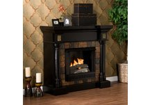 Carrington Convertible Black Gel Fireplace