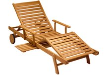 chaise lounger, teak chaise