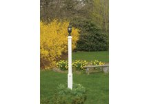 highwood® Brockton lamppost; Recycled eco-friendly synthetic wood in white color.