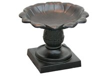 Antique Copper Pineapple Tabletop Birdbath