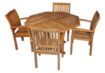 Teak Octagon Table, Dia 52,