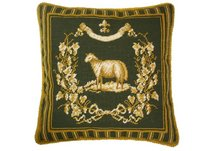French Country Sheep Needlepoint Pillow