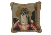 Shih Tzu Needlepoint Pillow