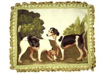 Two Hounds Needlepoint Pillow