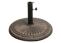 "18"" Diameter Aged Bronze Umbrella Stand"