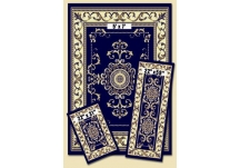 Navy Royal Crown Capri Rug Set