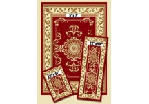 Red Royal Crown Capri Rug Set