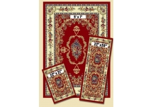 Red Savonnerie Capri Rug Set