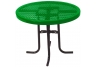"Commercial Park 36"" Low Round Table- Portable, Diamond, Green"