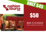 Cushion Source Discounted Gift Card Clearance