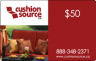 $50 Cushion Source Gift Card