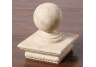 Sphere Sculpture Limestone Post Cap