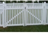 Vinyl Straight Top Picket Fence Gate