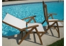 Florida Reclining Teak Sling Chair