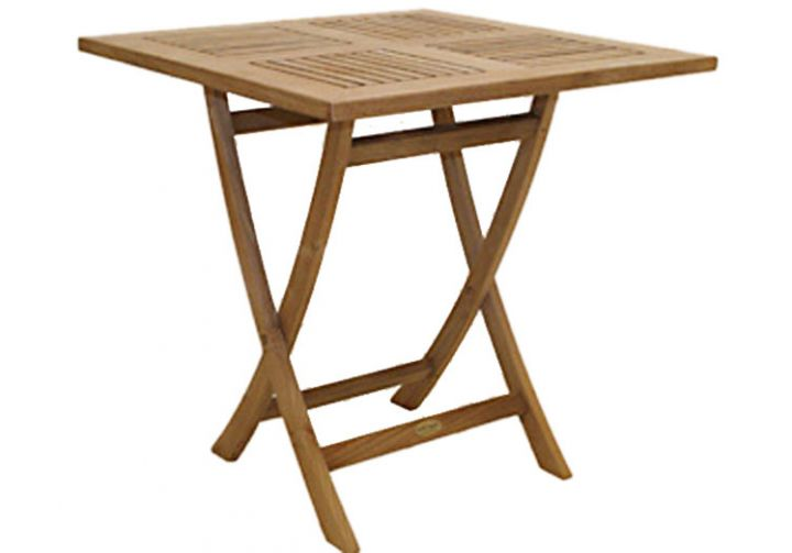 30 square teak sailor table highland taylor for 52 folding table