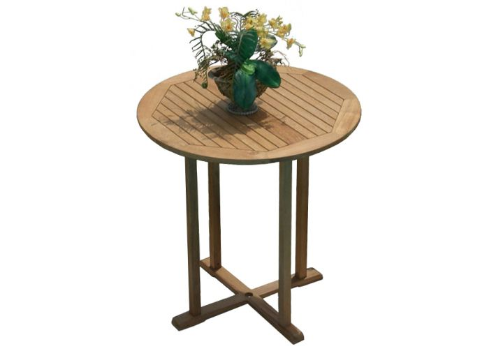 39 round teak bar table teak furniture outlet - Round teak table and chairs ...