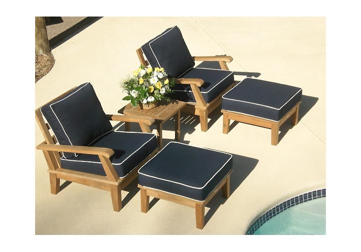 miami deep seating teak patio set teak furniture outlet