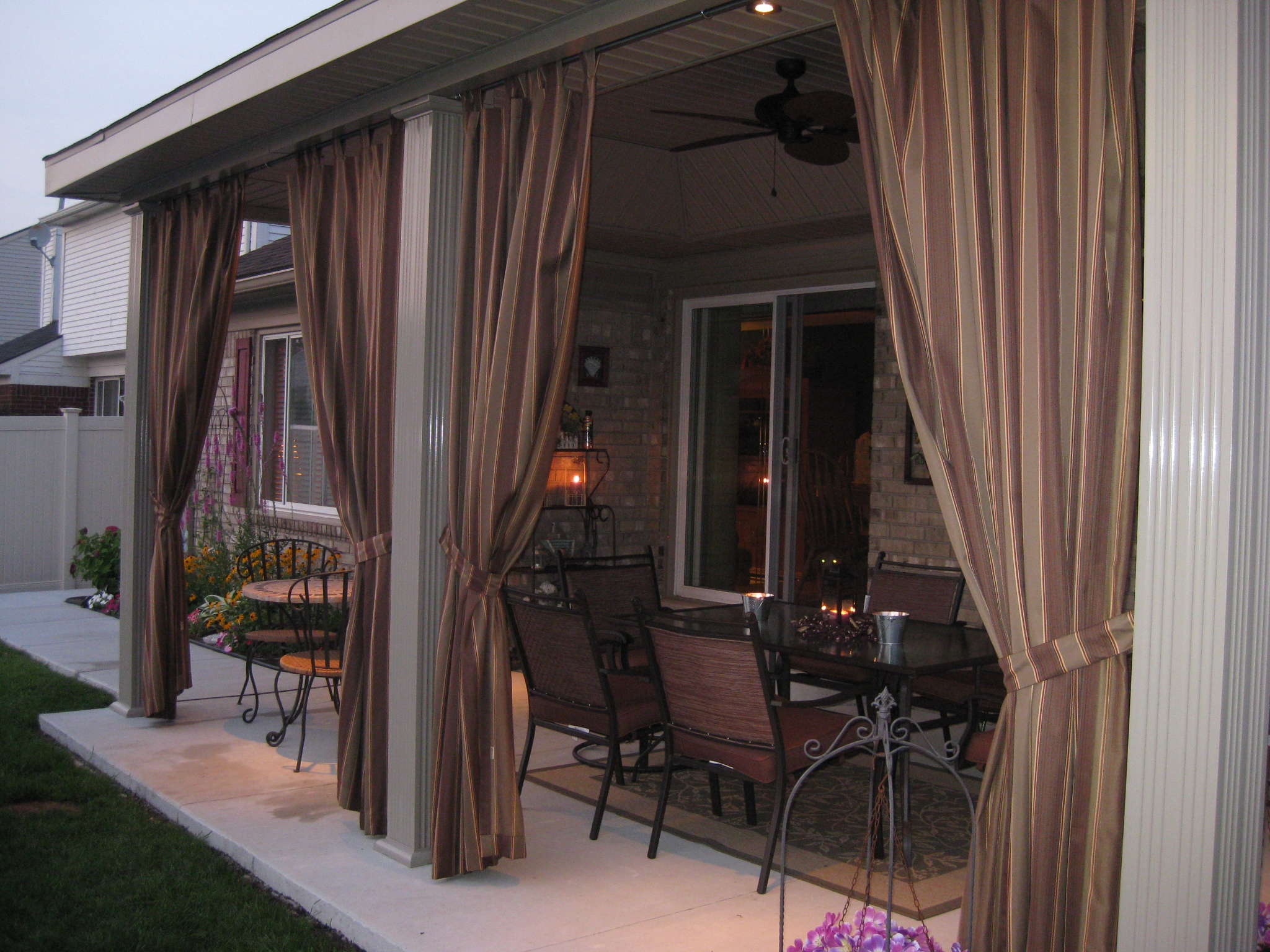 Custom Outdoor Drapes Cushion Source Ca
