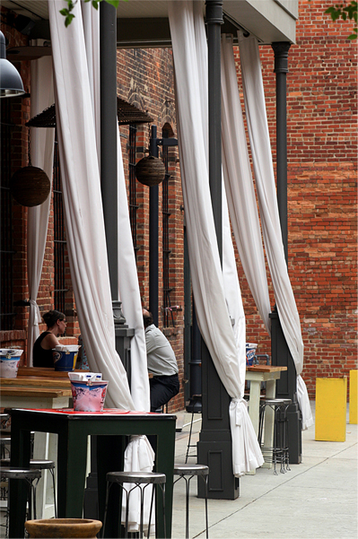 Outdoor Drapes from OutdoorDrapes.com at Cantina restaurant Montgomery, AL