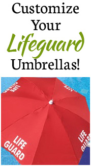 Customize your lifeguard umbrella
