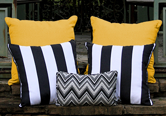 Black and Yellow Throw Pillows