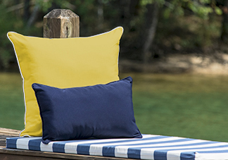 Blue and Yellow Throw Pillows