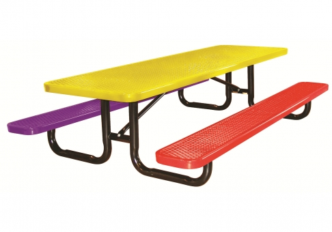 6-foot Expanded Metal Kids' Picnic Table   Commercial Site ...