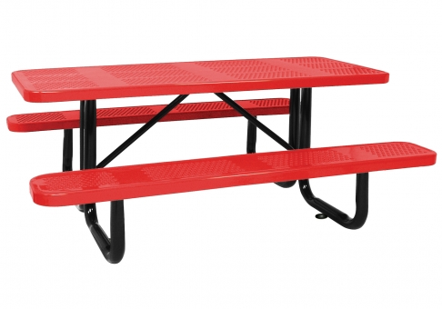 Thermoplastic-Coated Picnic Table