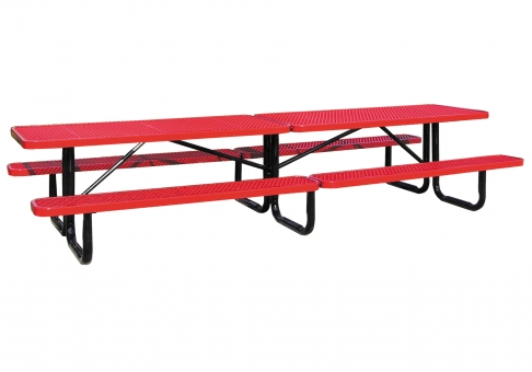 Foot Perforated Metal Picnic Table Commercial Site Furnishings - 12 foot picnic table