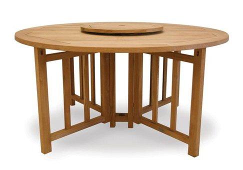 5 Round Flip Teak Table Teak Furniture Outlet