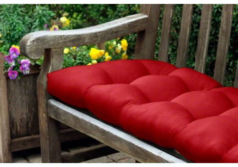 Rounded Back Tufted Sunbrella Bench Or Glider Cushion 41 X 19