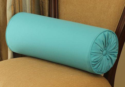 Custom Designer Shirred Bolster Pillow