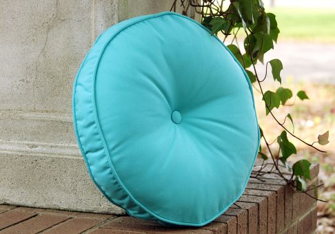 Custom Designer Round Pillow With Button