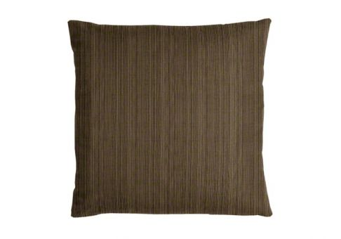 Sunbrella Throw Pillow In Dupione Walnut